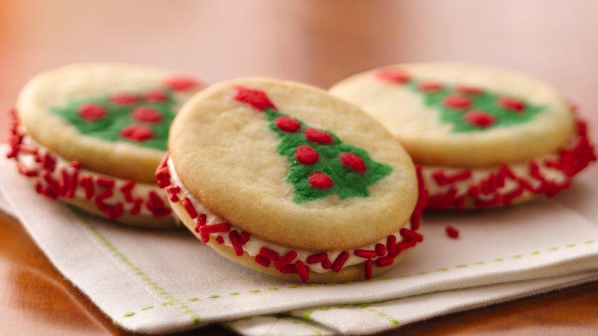 Photo Recette Biscuits Sandwichs Arbre de Noël