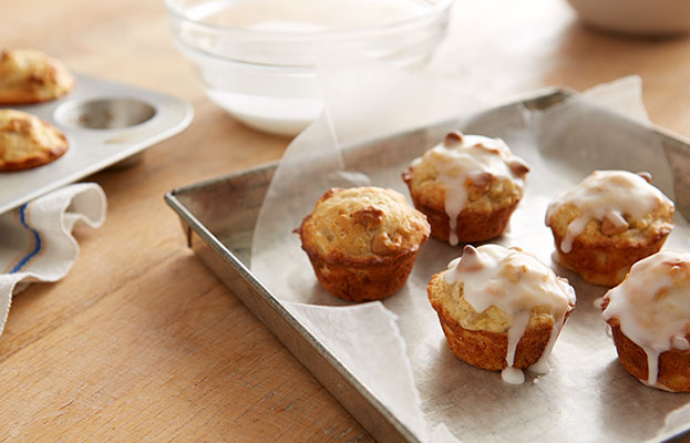 Recette De Mini Muffins Aux Bananes Et Grains Au Beurre D'arachides