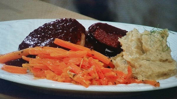 Recette de Steak de Chevreuil au Coulis de Bleuets et Champignons Portobello