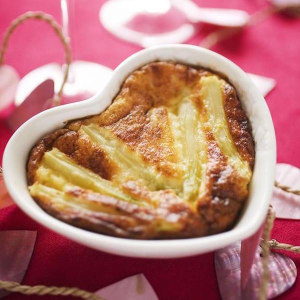 Recette du Flan D'asperge et Parmesan en Cœur