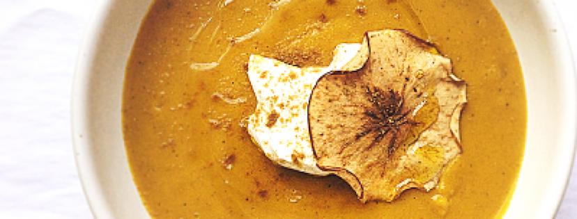 Photo Recette Savoureux Potage à la Courge, Pommes et Curry