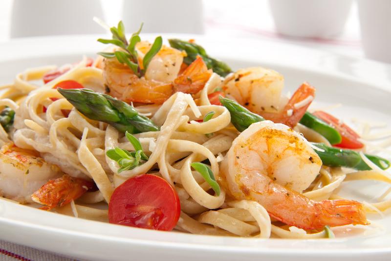 Recette Linguine aux Crevettes et Légumes