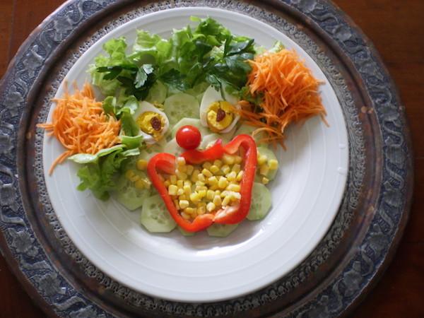 Photo Recette Recette pour Enfants, Le Clown Salé en Salade 1