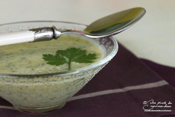Recette Soupe à la Courgette et à la Coriandre
