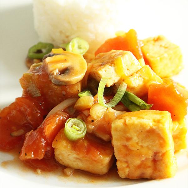 Photo Recette Tofu Sauté à la Tomate