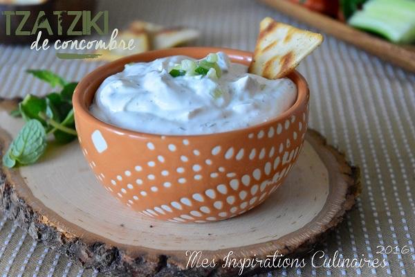 Recette Tzatziki Maison au Concombre