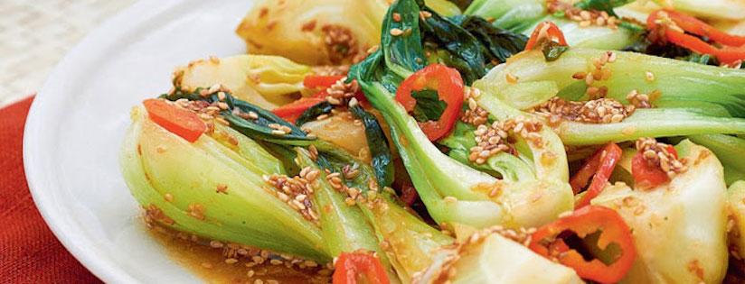 Recette Végétarienne Pak Choi Sauce Sésame