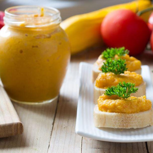 Rillettes de Carottes Poivron et Cumin sur Toast