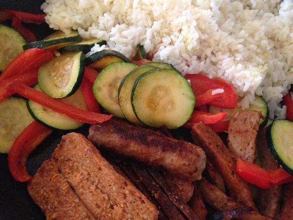Riz aux Légumes et Saucisses Merguez