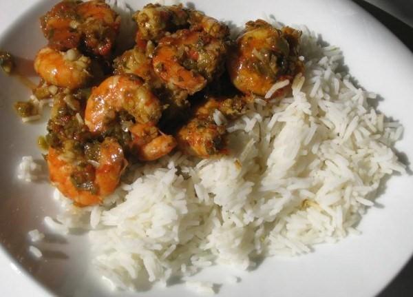 Riz et Crevettes Saucées