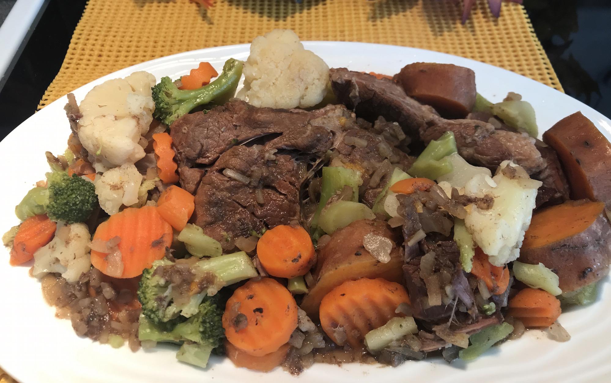 Photo Recette Rôti de Boeuf avec Légumes à la Mijoteuse