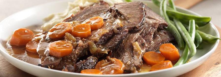 Photo Recette Rôti de Bœuf et Légumes Braisés à la Mijoteuse