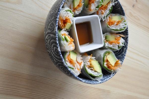 Rouleaux de Printemps Avocat Crevettes