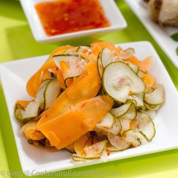 Salade Asiatique Carottes et Concombres