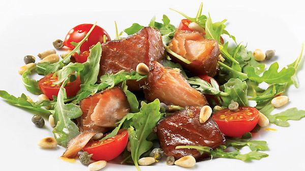 Salade au Saumon Fumé à Chaud