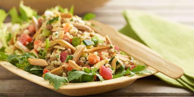 Photo Recette Salade D'amandes et Lentilles Épicées