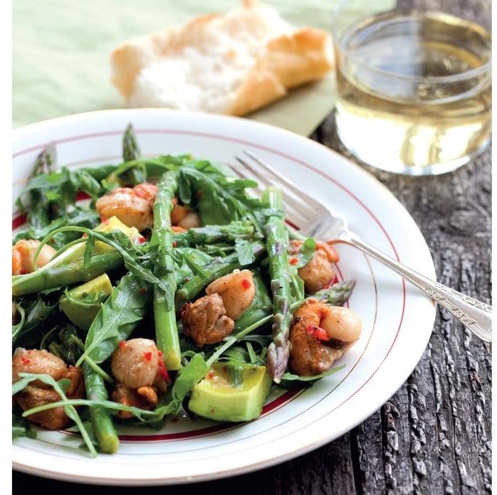 Photo Recette Salade D'asperges aux Pois Gourmands et aux Saint-Jacques