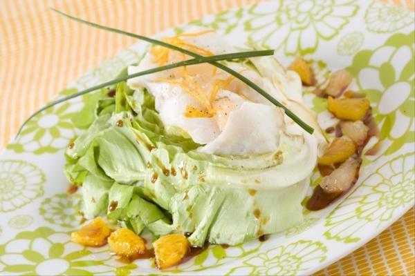 Salade de Cabillaud au Sel et aux Agrumes