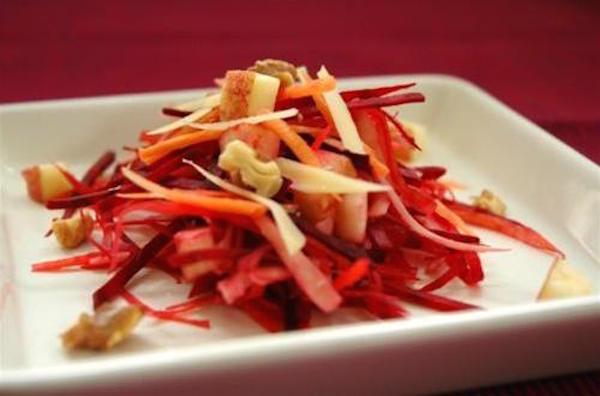 Photo Recette Salade de Carotte, Betterave, Pomme Noix et Comté