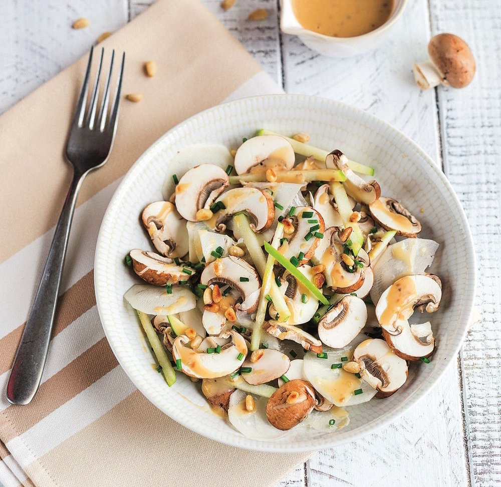 Salade de Champignons au Praliné de Pignon