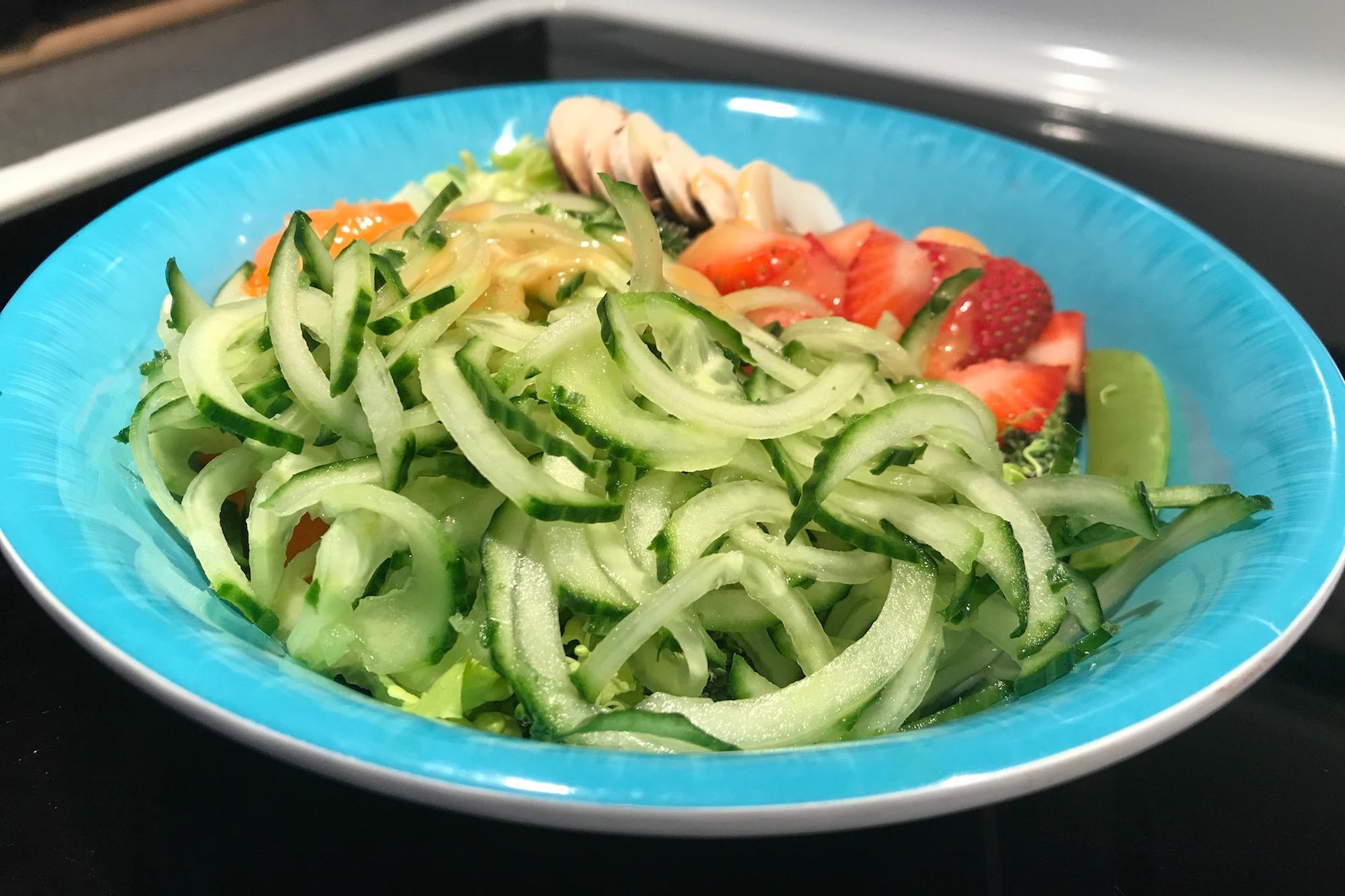 Photo Recette Salade de Concombres Spirales Ensoleillé