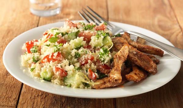 Photo Recette Salade de Couscous au Poulet à Chawarma