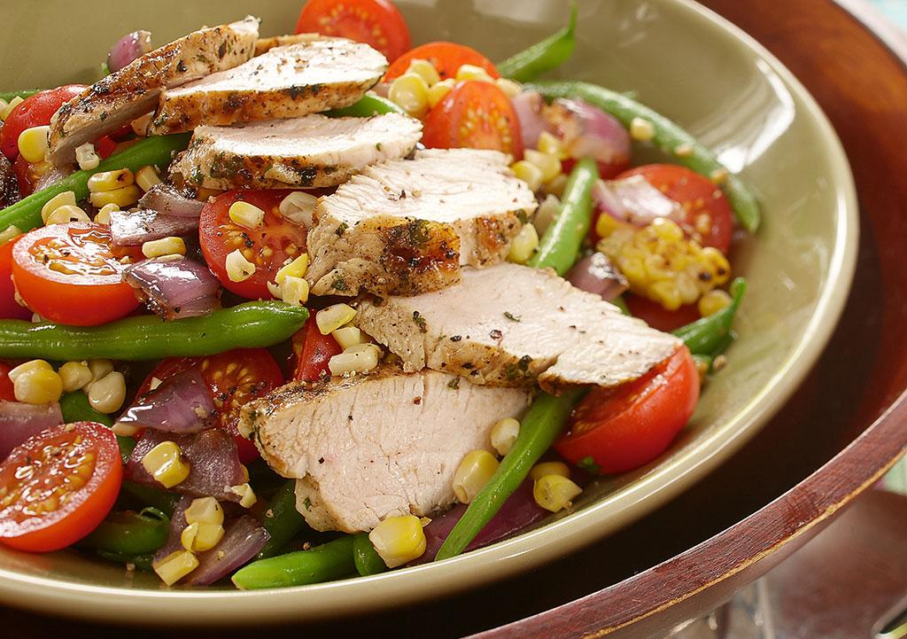 Photo Recette Salade de Dindon, Haricots Verts, Mais et Tomates