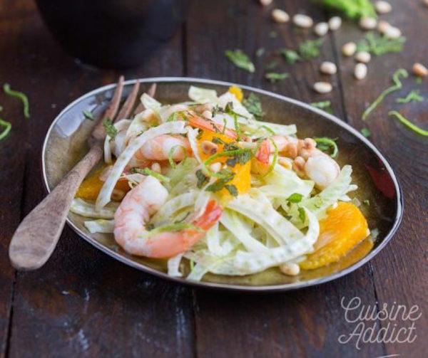 Photo Recette Salade de Fenouil à L'orange et aux Crevettes