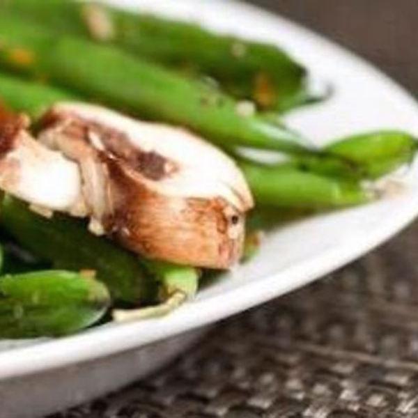 Salade de Haricots Verts et Champignons de Paris