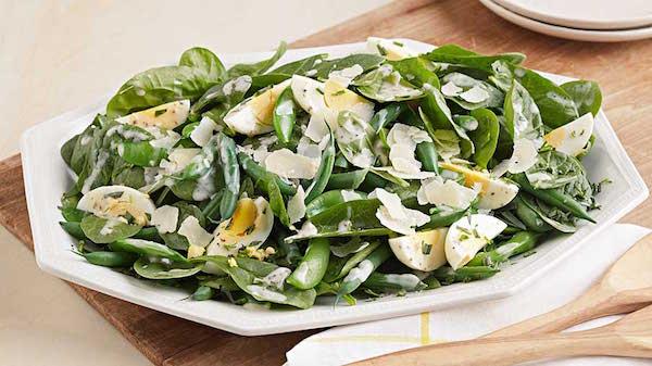 Salade de Haricots Verts et D'épinards