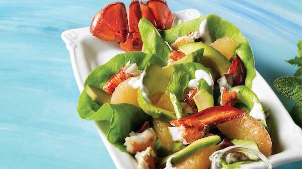 Photo Recette Salade de Homard Grillé au Pamplemousse Rose et à L'avocat
