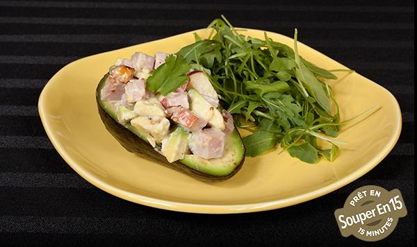 Salade de Jambon en Coupes L'avocat avec Vinaigrette Crémeuse à la Moutarde