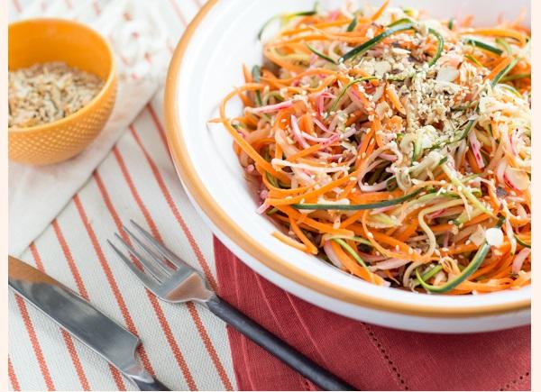 Photo Recette Salade de Légumes Frais en Spirales