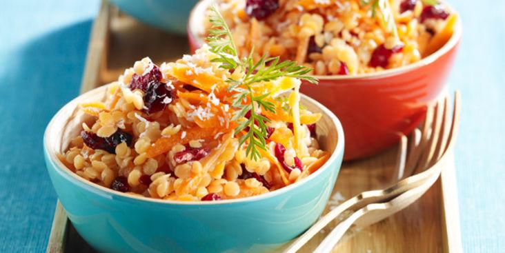 Salade de Lentilles Corail et Carottes