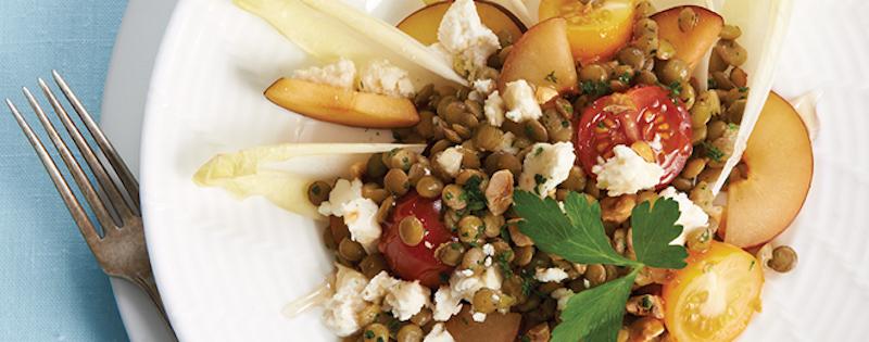 Salade de Lentilles, de Prunes et de Noisettes