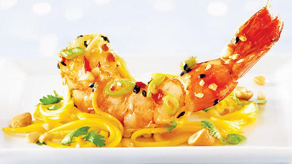 Photo Recette Salade de Mangues Vertes et Crevettes Aigres-douces