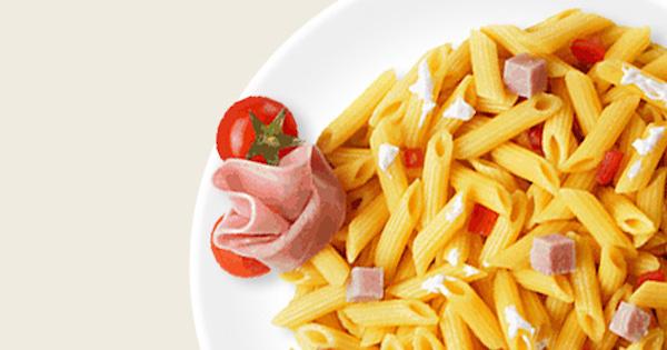 Salade de Mini Penne Rigate à la Ricotta, au Jambon Cuit et aux Tomates