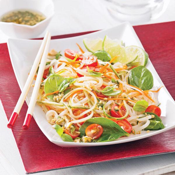 Photo Recette Salade de Nouilles Thaï et Épinards