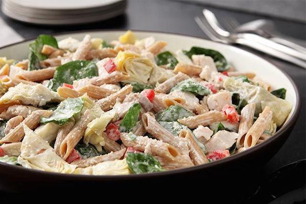 Salade de Pâtes aux Épinards et aux Artichauts