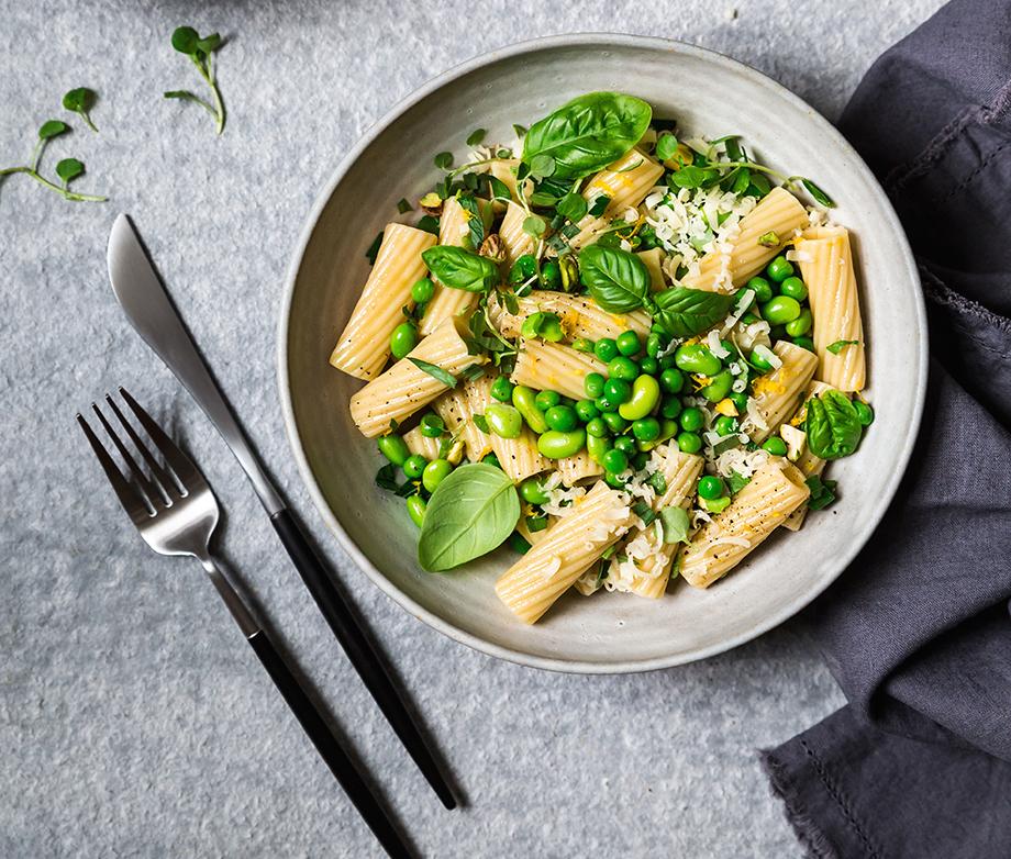 Photo Recette Salade de Pâtes aux Petits Pois, Edamames et Fines Herbes