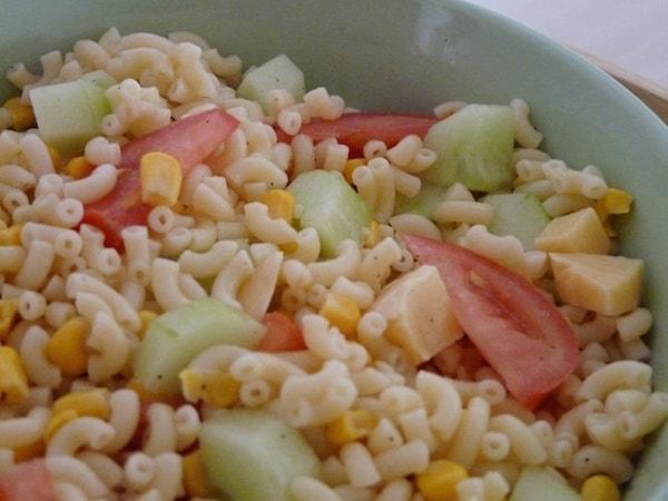 Salade de Pâtes Froides aux Crudités
