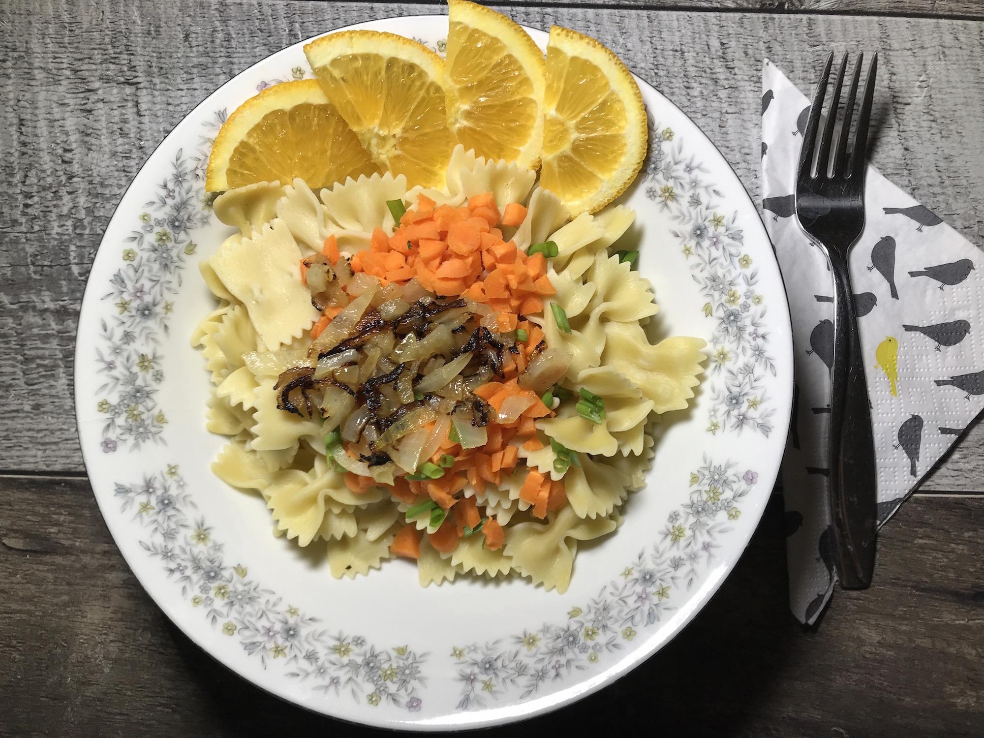 Photo Recette Salade de Pâtes Oignons Caramélisées