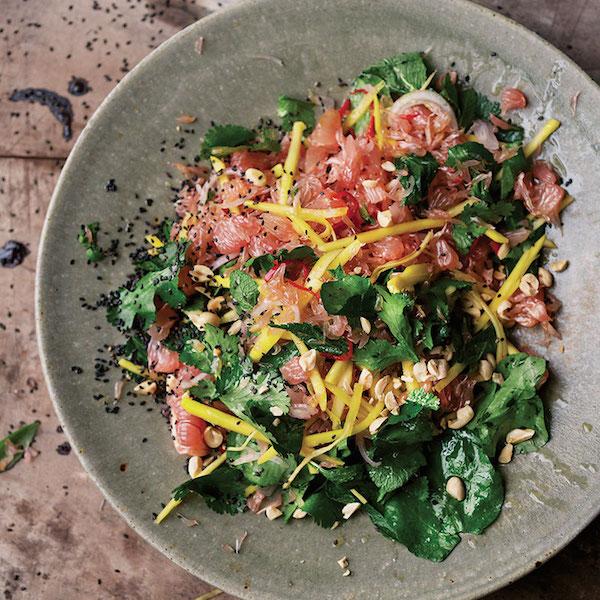 Photo Recette Salade de Pomélo, Mangues et Cresson, de Yotam Ottolenghi