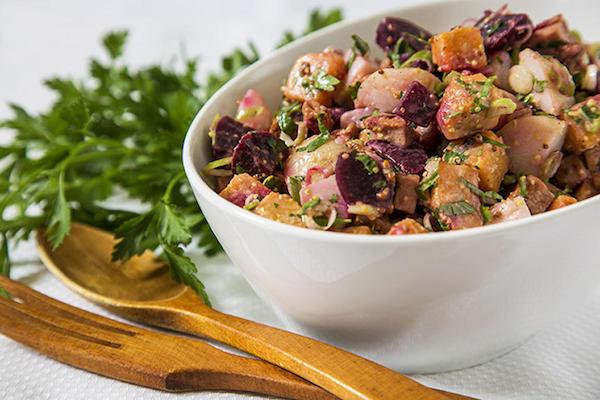 Salade de Pommes de Terre Betteraves et Patate Douce au Bologne