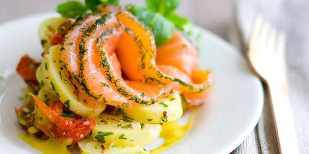 Photo Recette Salade de Pommes de Terre *Gravlax et Crème au Curry