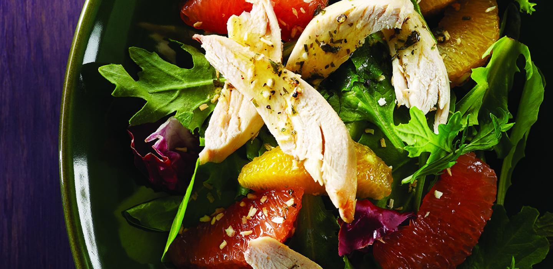 Photo Recette Salade de Poulet au Citron et à la Roquette avec la Vinaigrette D'estragon
