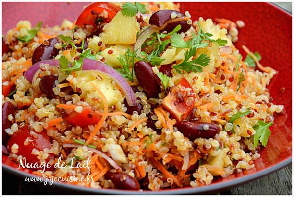 Photo Recette Salade de Quinoa à la Brésilienne, vinaigrette Téquila & Citron Vert