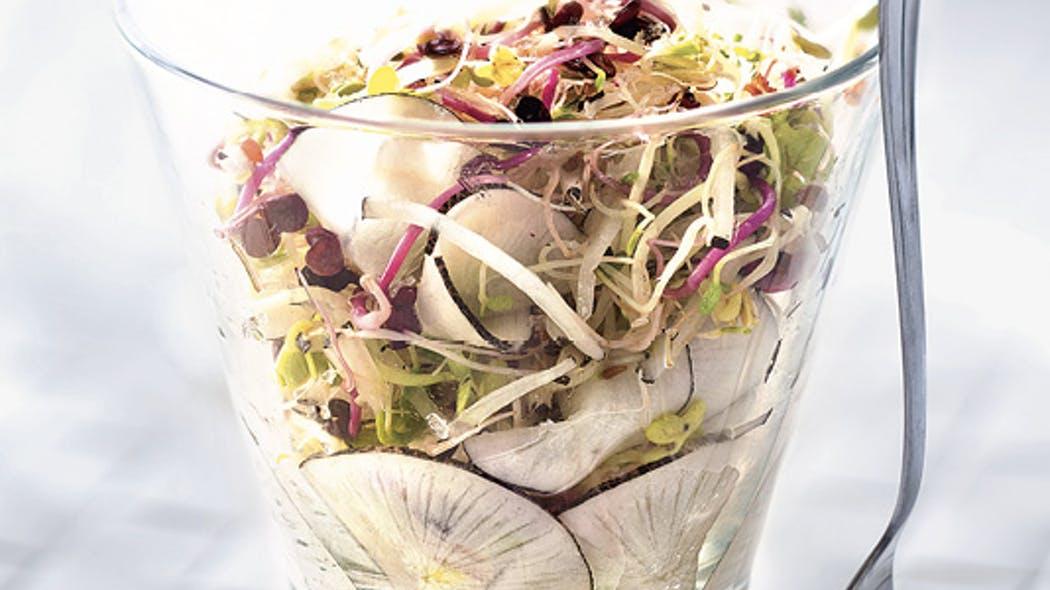 Photo Recette Salade de Radis Noir et Graines Germées