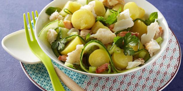 Photo Recette Salade de Ratte au Concombre et au Crabe