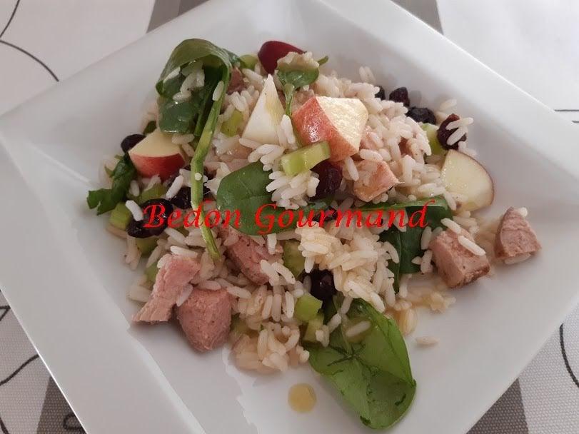 Salade de Riz au Porc et aux Pommes